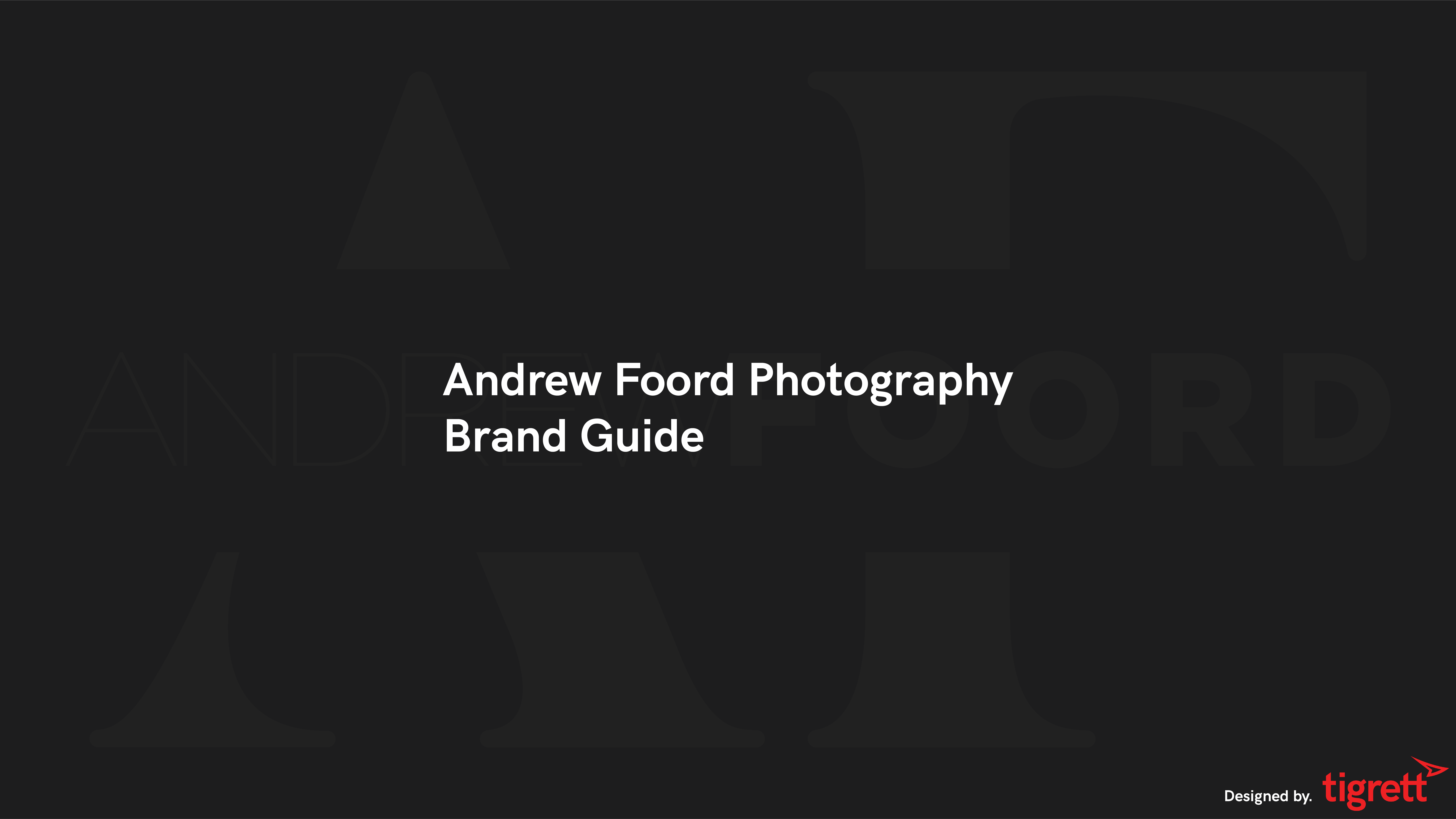 Andrew Foord Photography Brand Guide Intro Slide