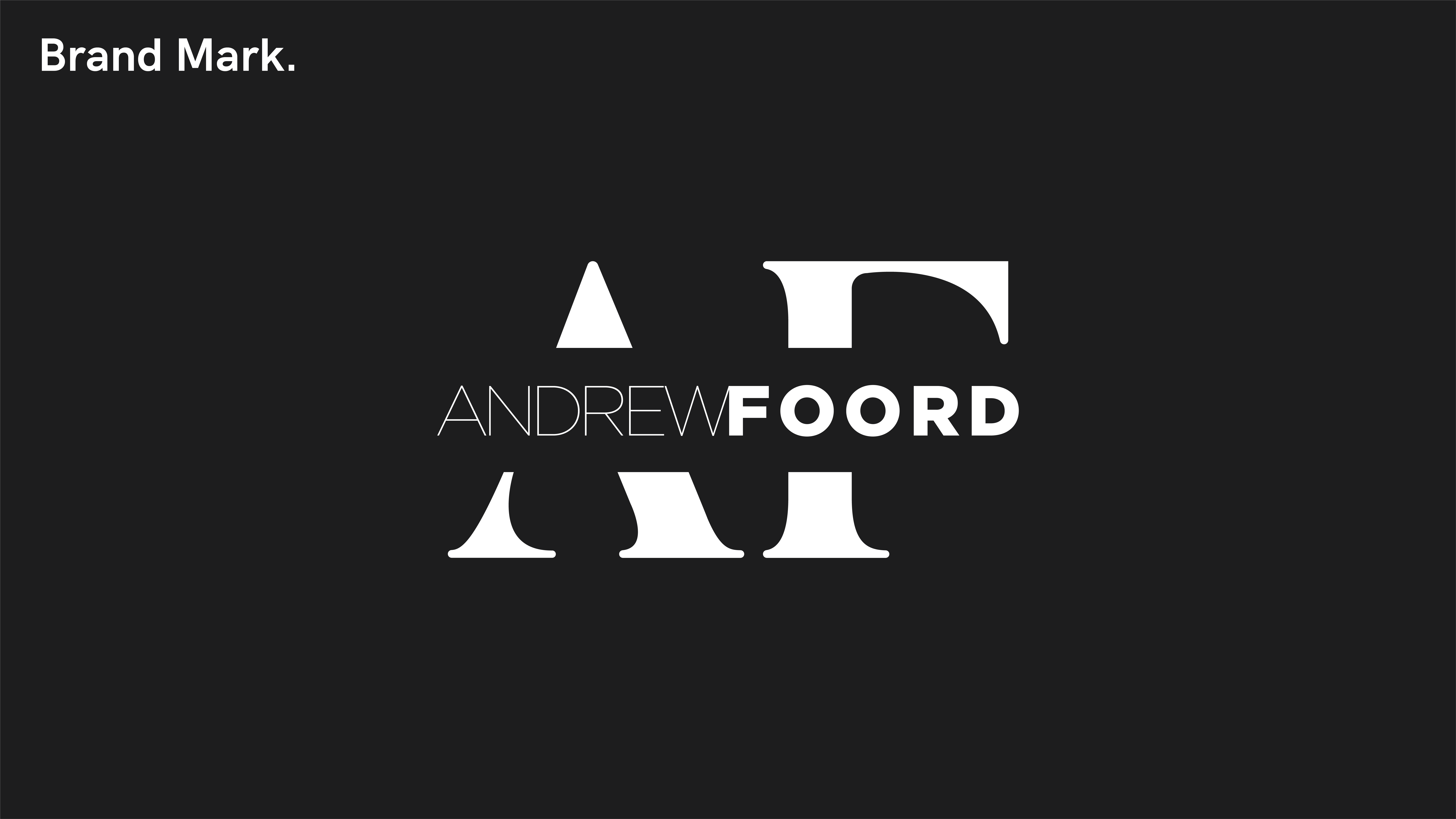 Andrew Foord Photography Brand Mark Light