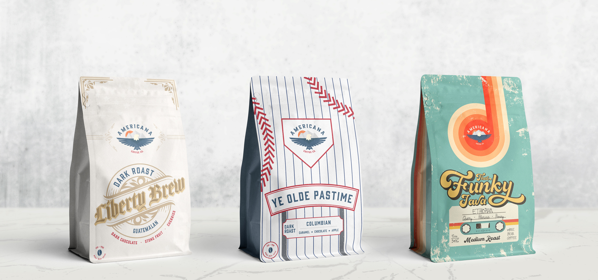 Phoenix Packaging Design Agency - Coffee Bag Design and Branding - Lineup