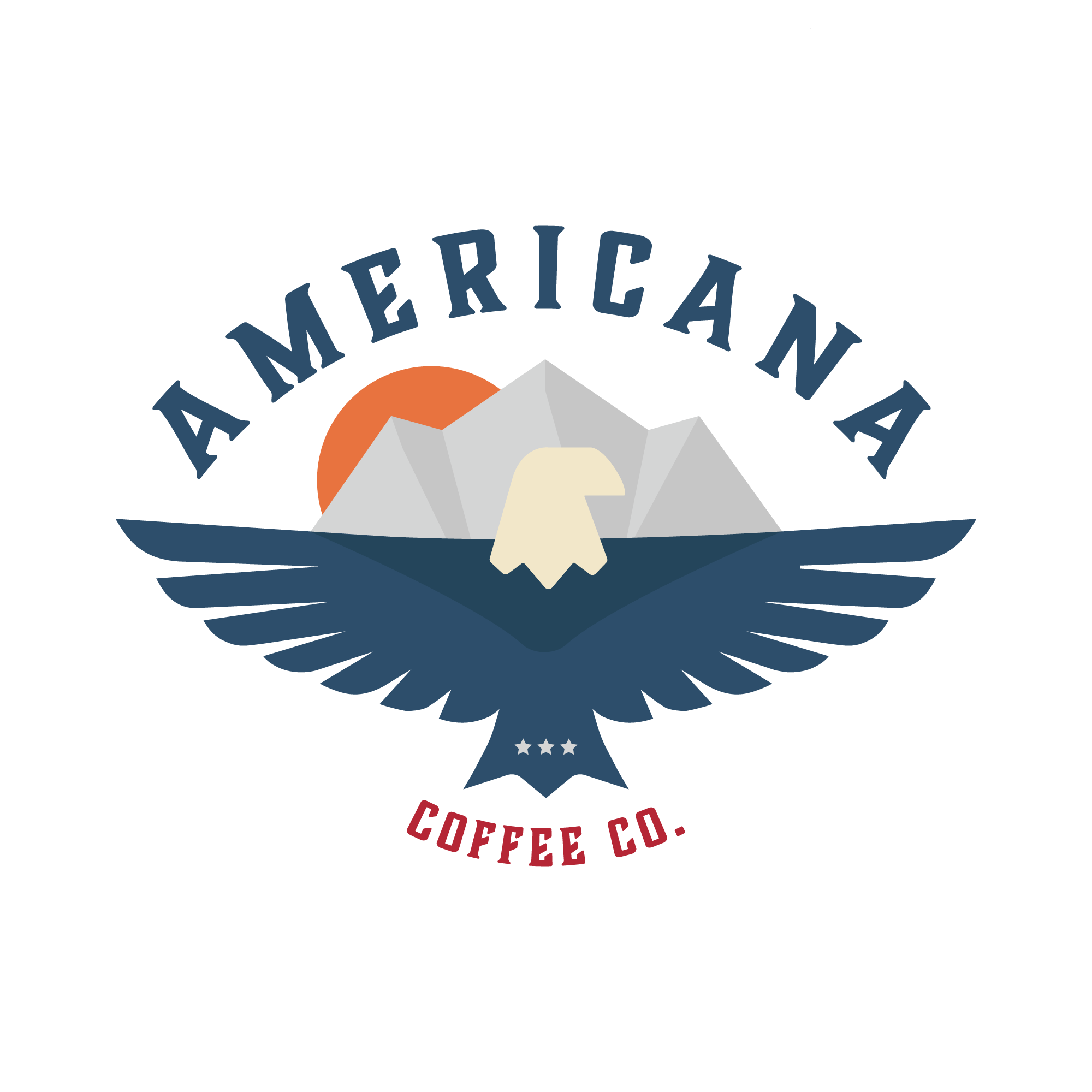 Americana Coffee Co Logo and Branding Design