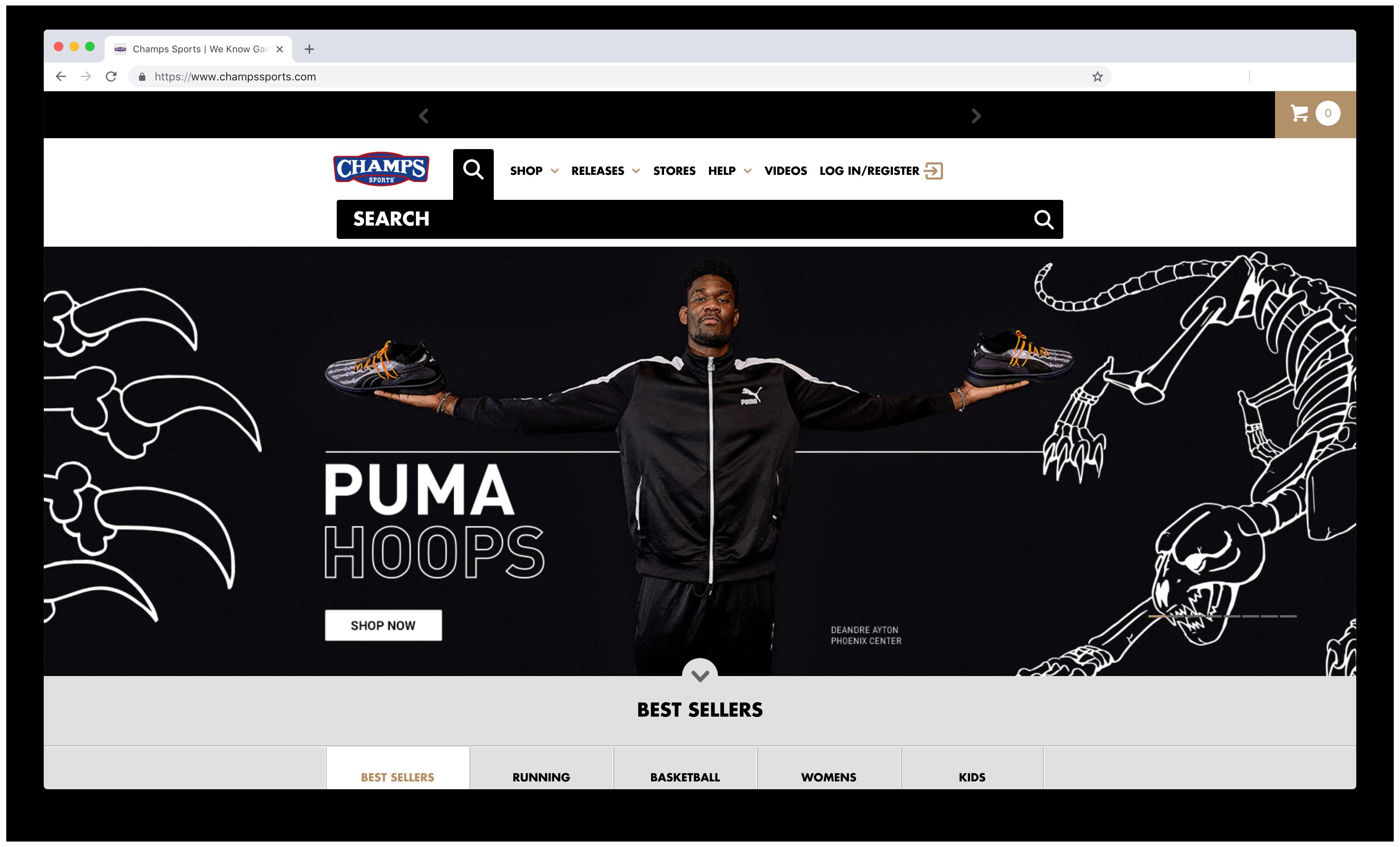 Champs x Puma Hoops Deandre Ayton Website